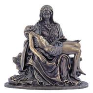 "Pieta Lightly Hand-Painted Cold-Cast Bronze 5"""