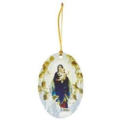 Queen of The Angels Christmas Ornament