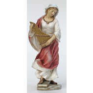 "St. Cecilia in Hand Painted Color 8.5"" Statue"