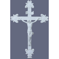 Crucifix with White Finish 16""