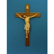 """Crucifix, Wood Cross, 20"""""""