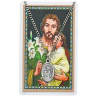 St. Joseph  Pewter Medal with Prayer Card