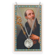 St. Benedict Pewter Medal with Prayer Card