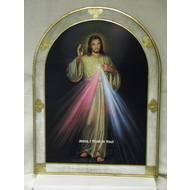 "Divine Mercy Florentine Plaque 23""Wx31""H, Made in Italy"