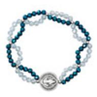 St. Benedict Bracelet, Blue Crystal