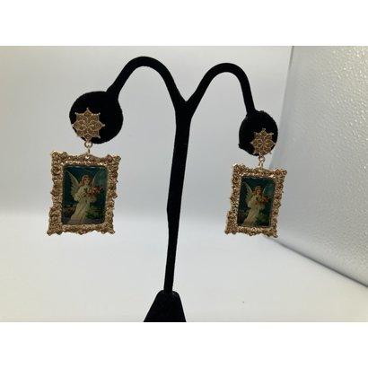 Angel of Love Vintage Dangle Earrings