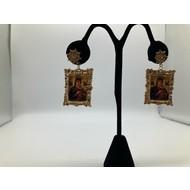 Our Lady of Perpetual Help Vintage Dangle Earrings