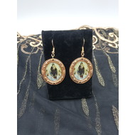 Vintage Dangle Gold Plated Song of the Angels Earrings