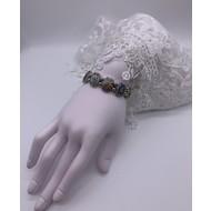 Ornate Silver Saints Stretch Bracelet
