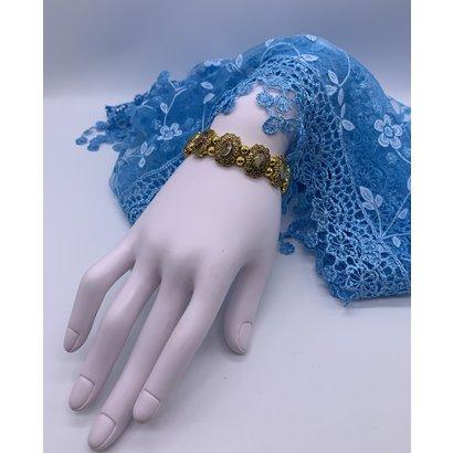 Ornate Gold Saints Stretch Bracelet
