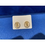OUR LADY OF GUADALUPE EARRINGS WITH RHINESTONES