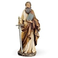 """St. Paul with Book, 10.50"""" Statue"""