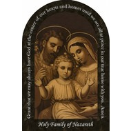 Holy Family of Nazareth Prayer Arched Magnet