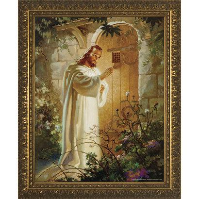 "Christ at Heart's Door, Gold Frame 11"" x 14"""