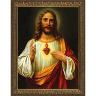 "Sacred Heart of Jesus, Frame 18.5"" x 14.5"""