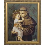 "St. Anthony with Child Jesus, Gold Frame 11"" x 14"""