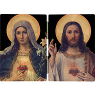 Sacred Heart of Jesus &  Immaculate Heart of Mary Diptych