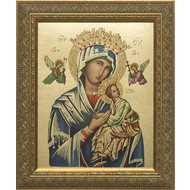 """Our Lady of Perpetual Help, Gold Frame 12"""" x 16"""""""