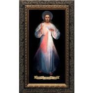 Divine Mercy Vilnius Original-Ornate Dark Framed Art
