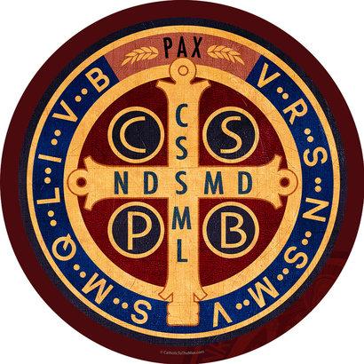 Benedictine Medal Emblem Decal