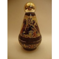 """Red Ceramic 2 Sided Ceramic Holy Water Container 4""""x2 1/2"""""""