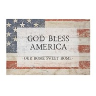 """God Bless America, Our Home Sweet Home 5.25"""" 1 x 5.25"""" w x 1.25"""" H"""