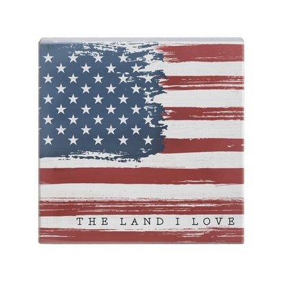 """Land I Love Flag 12""""x5.5"""""""