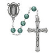 Rosary, Our Lady of GuadalupeTeal Pearl Beads