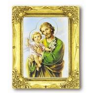 St. Joseph 3x2 Antique Gold Frame