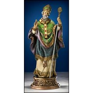 """St. Patrick with Ornate Statue 9.75""""H"""