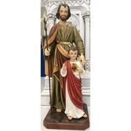 "St. Joseph with  Child Jesus Statue, 40"""