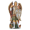 """4"""" PEWTER STATUE ST MICHAEL"""