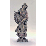 St. Cecilia lighly H-P'd, cold cast bronze, 8.5
