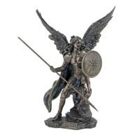 """Archangel Raphael lightly H-P'd Cold Cast bronze, 13.5"""""""