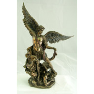 """St. Michael, Italy Hand Painted Cold-cast Bronze 10"""""""