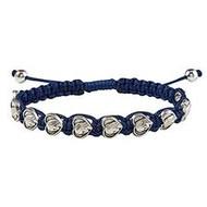Blessed Mother Heart Macrame Bracelet