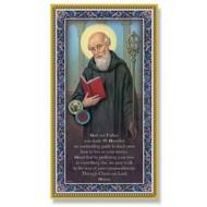 """5x9"""" St Benedict Plaque"""