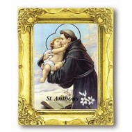 "St. Anthony 3x2"" Ant Gold Frame"
