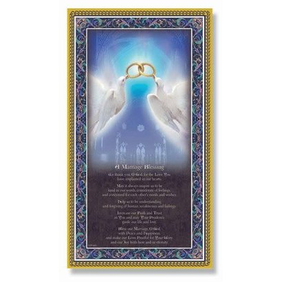 """A Marriage Blessing Plaque 5x9"""""""