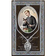 """Saint Gerard 1.125"""" Genuine Pewter Saint Medal with Stainless Steel Chain."""