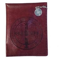 Saint Benedict Leather Rosary Pouch