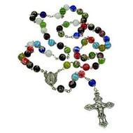 Rosary, Round Imitation Murano Glass Beads