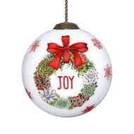 Succulents of Joy Christmas Hanging Glass Ornament