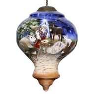 Playing for Jesus Drummer Boy Religious Christmas Ornament
