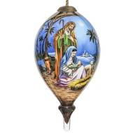 Holy Family Religious Glass Ornament