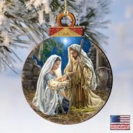Glory to God Wood Ornament Dona Gelsinger Inspirational