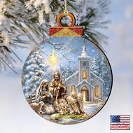 Nativity at the Chapel Wood ornament Dona Gelsinger Inspirational