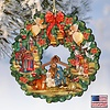 Nativity Wreath Wood Ornament G.DeBrekht Inspirational