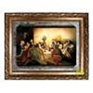 """Last Supper, Framed Canvas, 24"""" x 30"""""""