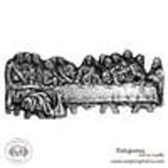 """The Last Supper,  Pewter Wall Plaque 21"""" x 7"""""""